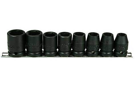 image of Halfords Advanced Professional 8 Piece Impact Socket Rail 1/2""
