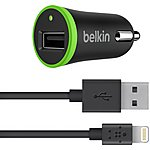 image of Belkin Car Charger iPhone 5 + Sync Cable