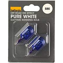 image of Halfords 580 W21/5W Pure White Daytime Running Bulb Car Bulbs x 2