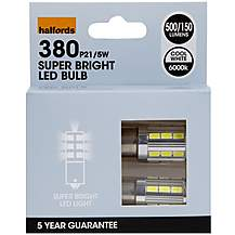 image of Halfords 380 P21/5W Car Bulbs x 2