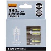 Halfords Premium 380 P21/5W LED Car Bulb