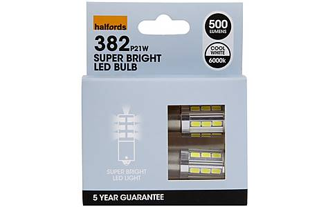 image of Halfords 382 P21W Car Bulbs x 2