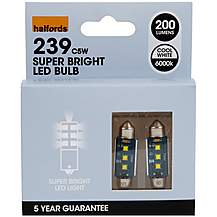 image of Halfords 239 C5W LED Car Bulbs x 2