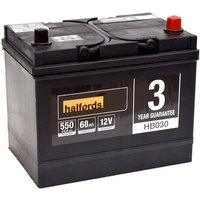Halfords 12V Lead Acid Car Battery HB030