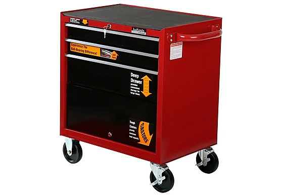 Halfords Professional 3 Drawer Ball-Bearing Cabinet