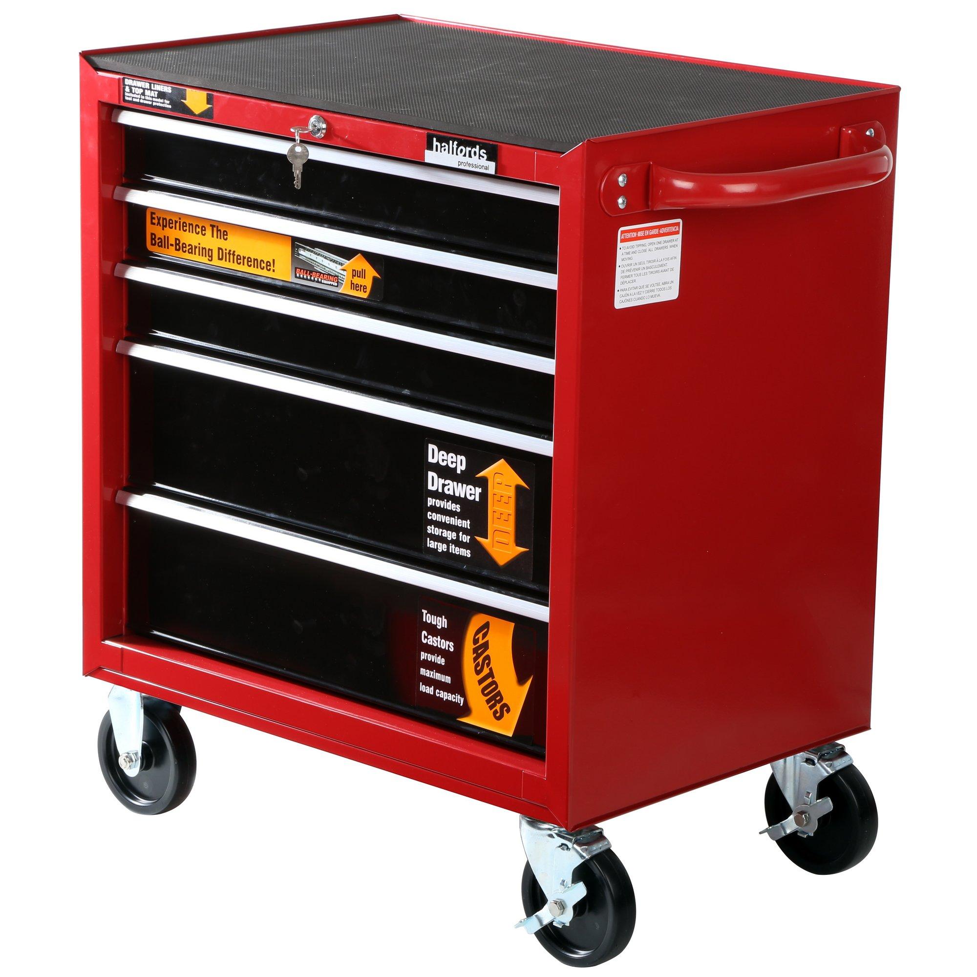 halfords halfords professional 5 drawer ball bearing cabinet. Black Bedroom Furniture Sets. Home Design Ideas
