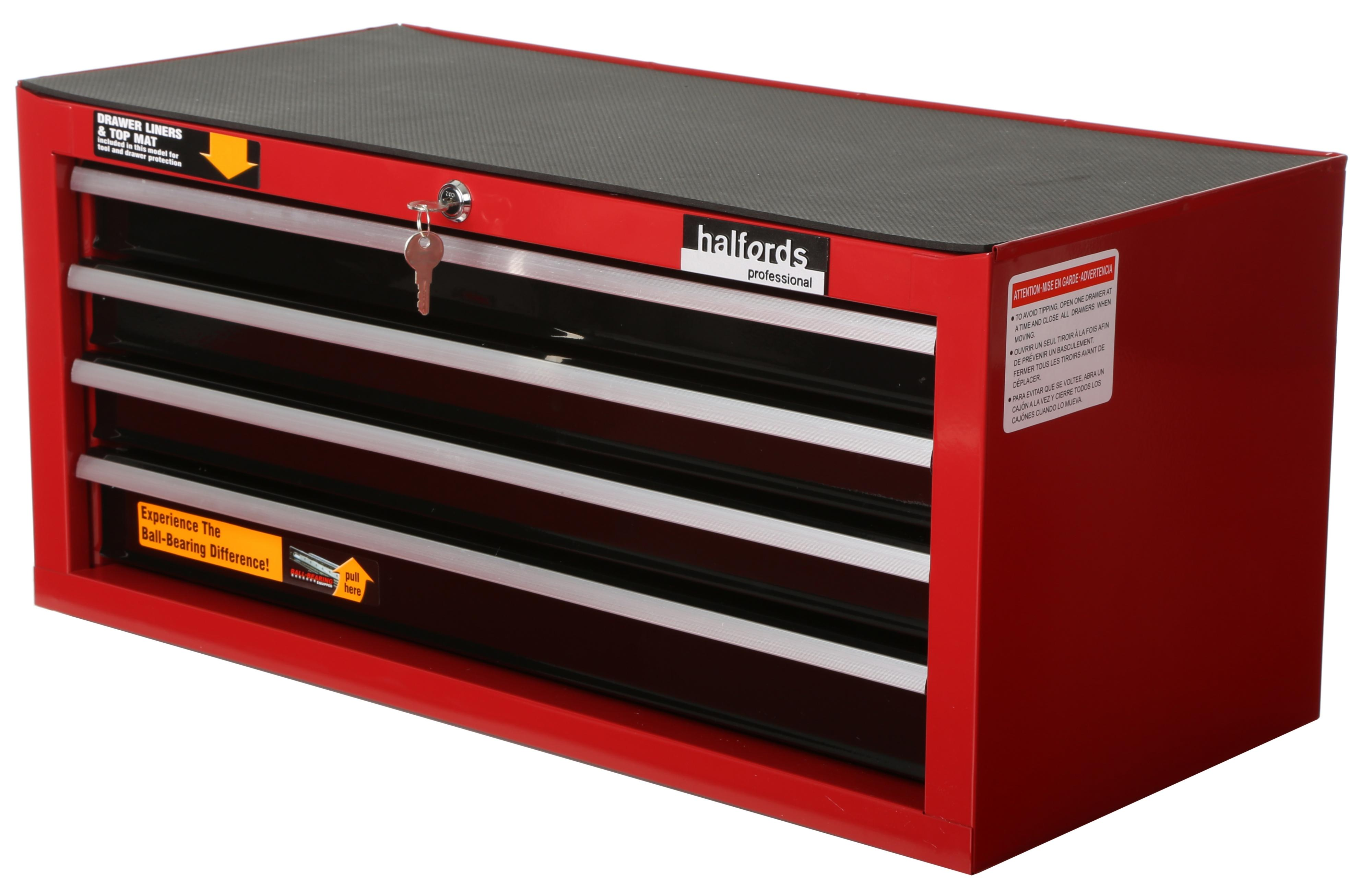 Image Of Halfords Professional 4 Drawer Intermediate Ball Bearing Chest