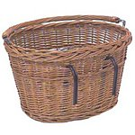 image of Basil Wicker Front Bike Basket With Handlebar Mount