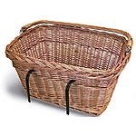 image of Basil Wicker Rectangular Front Basket with Handlebar Mount