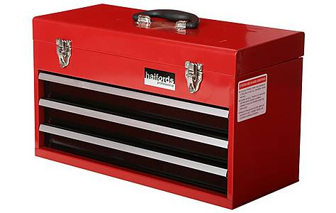 image of Halfords Professional 3 Drawer Metal Portable Tool Chest