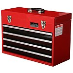 image of Halfords Professional 4 Drawer Metal Portable Tool Chest