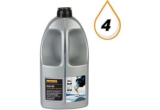 Halfords 5W40 Fully Synthetic Oil 5L