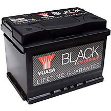 image of Yuasa Lifetime Guarantee 075 Black 12V Car Battery