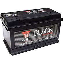 image of Yuasa Lifetime Guarantee 110 Black 12V Car Battery