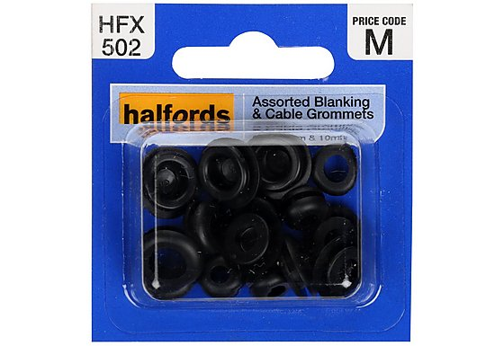 Halfords Assorted Blanking & Cable Grommets (HFX502)
