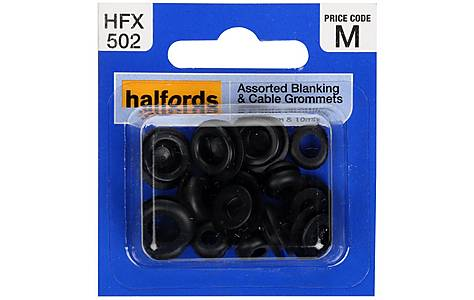 image of Halfords Assorted Blanking & Cable Grommets (HFX502)