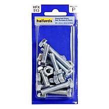 image of Halfords Assorted Screws & Nuts (HFX513) 8mm