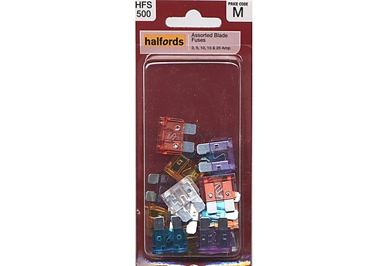Halfords Assorted Blade Fuses (HFS500)