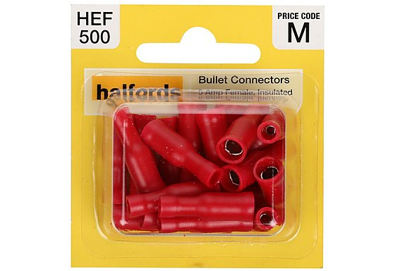 Halfords Bullet Connectors (HEF500) 5 Amp/Female