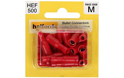 image of Halfords Bullet Connectors (HEF500) 5 Amp/Female