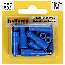 image of Halfords Bullet Connectors (HEF502) 15 Amp/Female