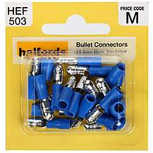 image of Halfords Bullet Connectors (HEF503) 15 Amp/Male