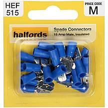 image of Halfords Spade Connectors (HEF515) 15 Amp/Male