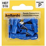 image of Halfords Assorted Spade Connectors (HEF516) Male & Female