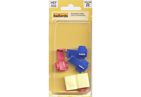 Halfords Assorted Cable Lock Connectors (HEF532)