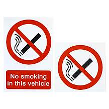 image of Halfords 'No Smoking Vehicle' Pack