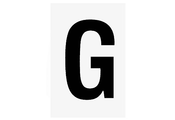 Letter 'G' - Black on White