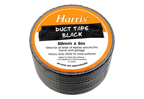 Harris Duct Tape Black 50mmx5m