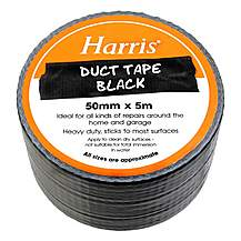 image of Harris Duct Tape Black 50mmx5m