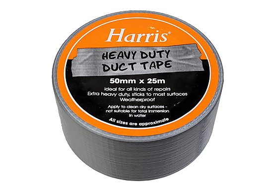 Harris Heavy Duty Duct Tape Silver (50mmx25m)