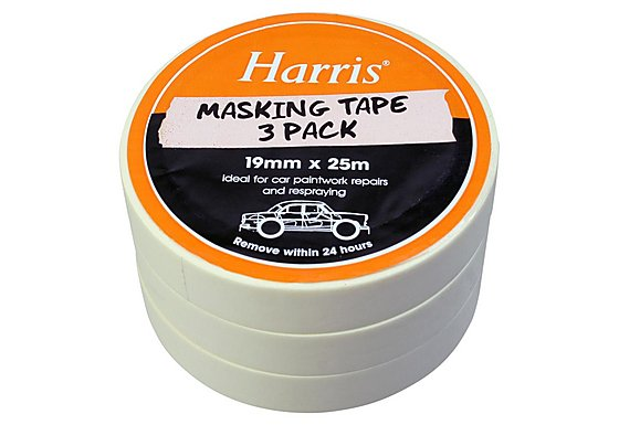 Harris Masking Tape 19mmx25m 3 Pack