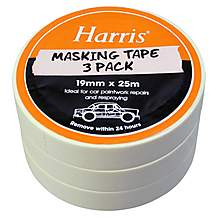 image of Harris Masking Tape 19mmx25m 3 Pack