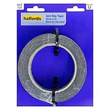 image of Halfords Anti-Slip Tape 50mmx3m Black with Glow Strip