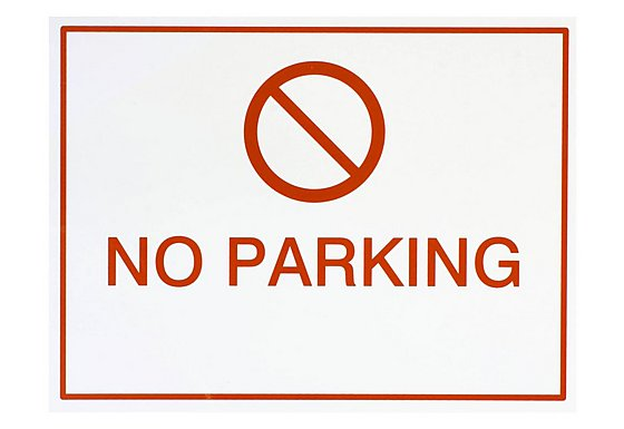 Halfords 'No Parking' Sign