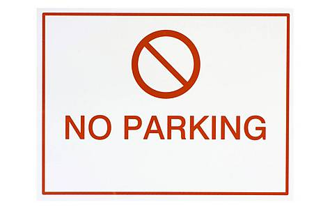 image of Halfords No Parking Sign