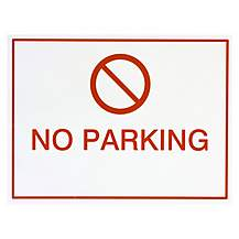 image of Halfords 'No Parking' Sign