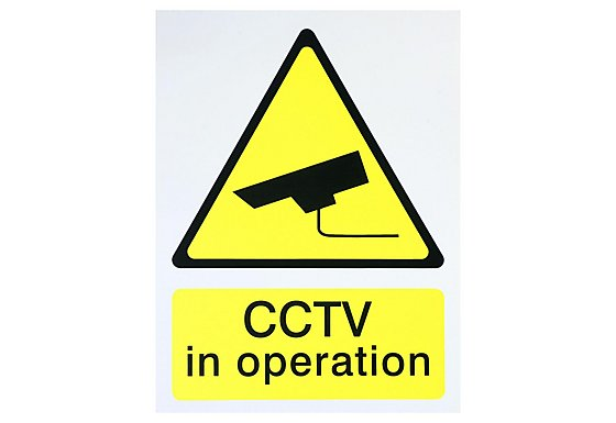 Halfords 'CCTV In Operation' Sign