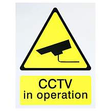 image of Halfords 'CCTV In Operation' Sign