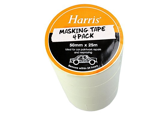 Harris Masking Tape (50mmx25m) 4 Pack