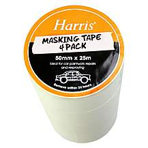 image of Harris Masking Tape (50mmx25m) 4 Pack