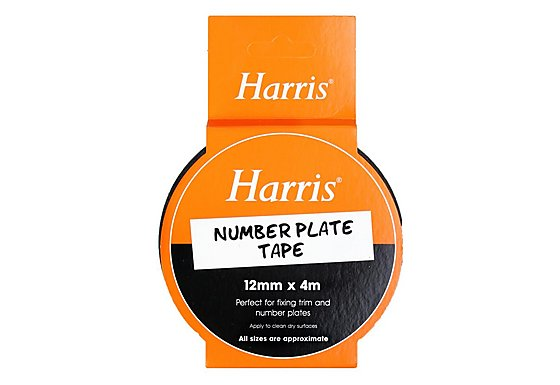 Harris Number Plate Tape (12mmx4m)