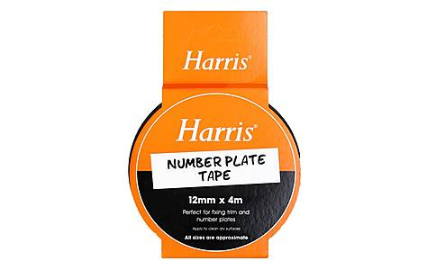 image of Harris Number Plate Tape (12mmx4m)