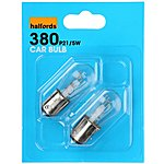 image of Halfords (HBU380) 21/5W Car Bulbs x 2