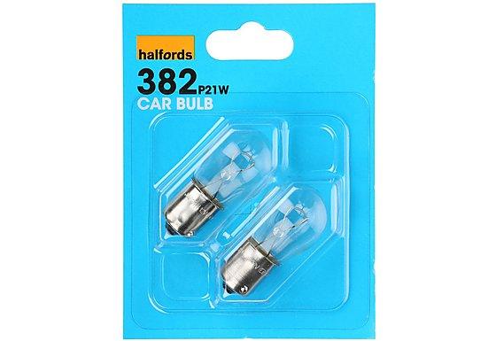 Halfords (HBU382) 21W Car Bulbs x 2