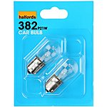 image of Halfords 382 P21W Car Bulbs x 2