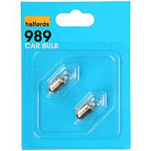 image of Halfords 989 Car Bulbs x 2